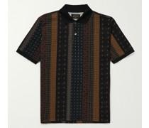 Slim-Fit Printed Piqué Polo Shirt