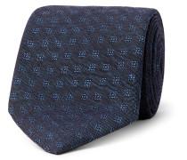 8cm Deacon Cotton And Linen-blend Jacquard Tie