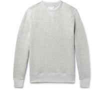 Mélange Fleece-back Stretch-cotton Jersey Sweatshirt