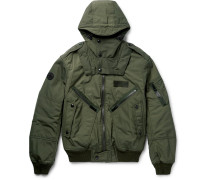Padded Shell Hooded Bomber Jacket
