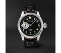 Wright Flyer Limited Edition Automatic 43mm Stainless Steel and Leather Watch, Ref. No. WF-SS