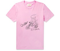 + Daniel Johnston Love is the Answer Printed Cotton-Jersey T-Shirt