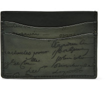 Bambou Embossed Polished-leather Cardholder
