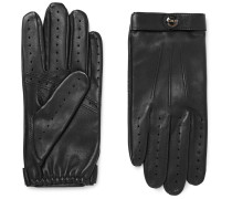 Fleming Perforated Leather Driving Gloves