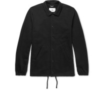 Coach's Loopback Stretch-cotton Jersey Jacket