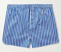 Wellington 52 Striped Cotton Boxer Shorts