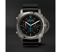 Luminor 1950 Rattrapante 8 Days Titianio 47mm Titanium And Rubber Watch