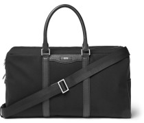 Signature Leather-trimmed Canvas Holdall