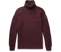 Barnstead Ribbed Mélange Wool Rollneck Sweater