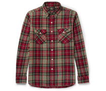 Checked Brushed Cotton-flannel Shirt
