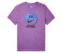 NSW Printed Mélange Cotton-Jersey T-Shirt