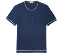 Stretch-cotton Jersey Henley T-shirt