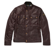 Racemaster Slim-fit Waxed-cotton Jacket