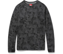 Camouflage-print Cotton-blend Tech Fleece Sweatshirt