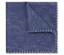 Silk And Cotton-blend Chambray Pocket Square