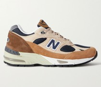 M991 Suede and Mesh Sneakers