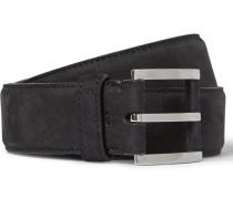 3.5cm Navy Nubuck Belt