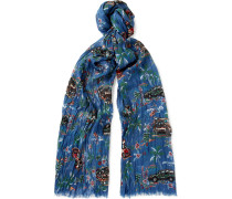 Printed Cashmere And Silk-blend Scarf