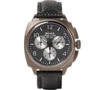 The Brakeman 40mm Stainless Steel And Pebble-grain Leather Chronograph Watch