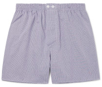 Embroidered Cotton Boxer Shorts