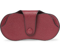 Pebble-grain Leather Sunglasses Case
