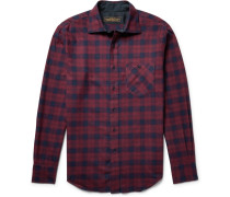 Hopkins Checked Cotton-flannel Shirt