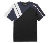 Panelled Bonded Cotton-jersey T-shirt