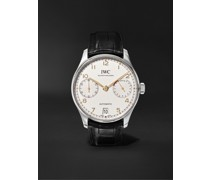 Portugieser Automatic 42mm Stainless Steel and Alligator Watch, Ref. No. IW500704