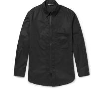 Slim-fit Zip-detailed Cotton-poplin Overshirt