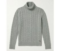 Hilary Cable-Knit Wool Rollneck Sweater