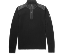 Kilmington Shell-trimmed Merino Wool Half-zip Sweater