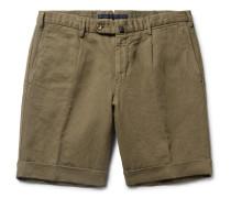 Slim-Fit Linen and Cotton-Blend Shorts