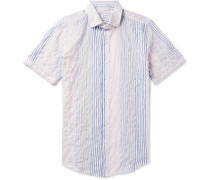 Eddie Slim-fit Striped Stretch-cotton Shirt