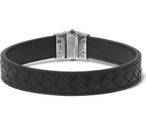 Intrecciato Leather Silver Bracelet