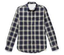 Checked Brushed-Flannel Shirt