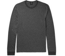 Tenison Striped Cotton And Wool-blend T-shirt