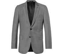 Grey Soho Wool-sharkskin Suit Jacket