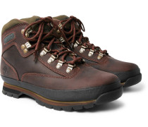 Euro Hiker Rubber-trimmed Leather Boots