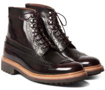 Sebastian Polished-leather Brogue Boots