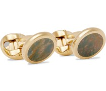 + Deakin & Francis Gold-Plated Heliotrope Cufflinks