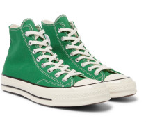 1970s Chuck Taylor All Star Canvas High-top Sneakers - Green
