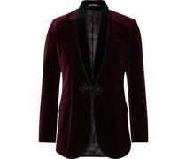 Shawl-Collar Velvet Tuxedo Jacket