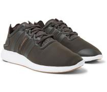 Yohji Run Suede And Rubber-trimmed Neoprene Sneakers