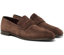 Asola Suede Penny Loafers