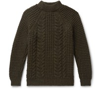 Cable-Knit Wool and Cashmere-Blend Sweater