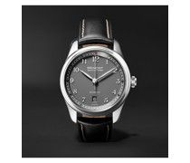 Airco Mach 2 Anthracite Automatic 40mm Stainless Steel and Leather Watch, Ref. AIRCO-M2-AN-R-S
