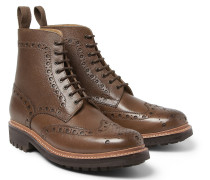 Fred Grained-leather Brogue Boots
