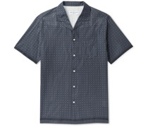 Dario Camp-Collar Printed Cotton Shirt