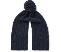 Cable-Knit Donegal Merino Wool and Cashmere-Blend Scarf