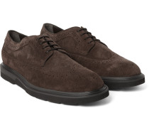 Suede Wingtip Derby Shoes